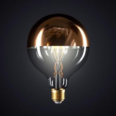 Lampadina LED Globo G125 Mezza Sfera Rame 7W E27 Dimmerabile 2700K