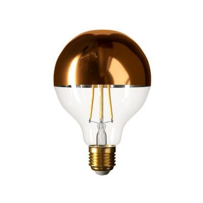 Lampadina LED Globo G95 Mezza Sfera Rame 7W E27 Dimmerabile 2700K