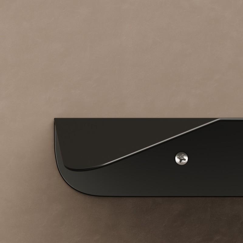 Mensola Magnetica nera, accessorio per portalampada Magnetico Plug