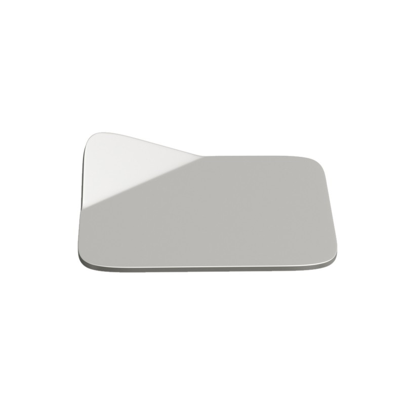 Magnetico Base, portalampada magnetico cromato con base in tinta e cavo tessile argento, presa e accenditore trasparente.