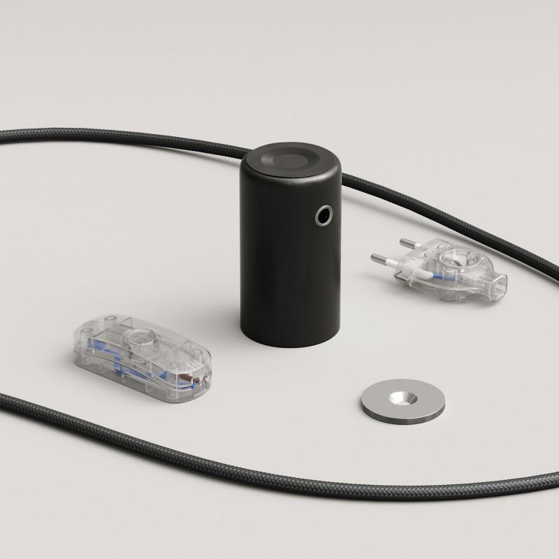 Magnetico®-Plug Nero, portalampada magnetico pronto all'uso