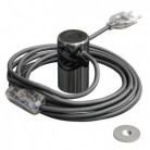 Magnetico®-Plug Cromato Scuro, portalampada magnetico pronto all'uso